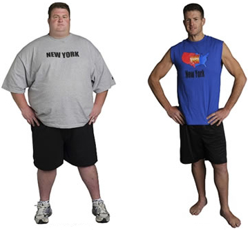 Before and After Photo: Erik Chopin from biggest loser with his weight loss shot. Good on you Erik.
